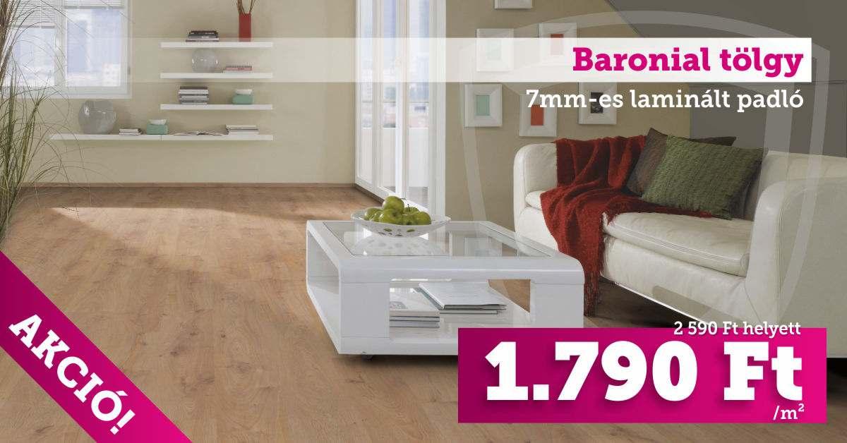 Baronial tölgy 7mm-es laminált padló
