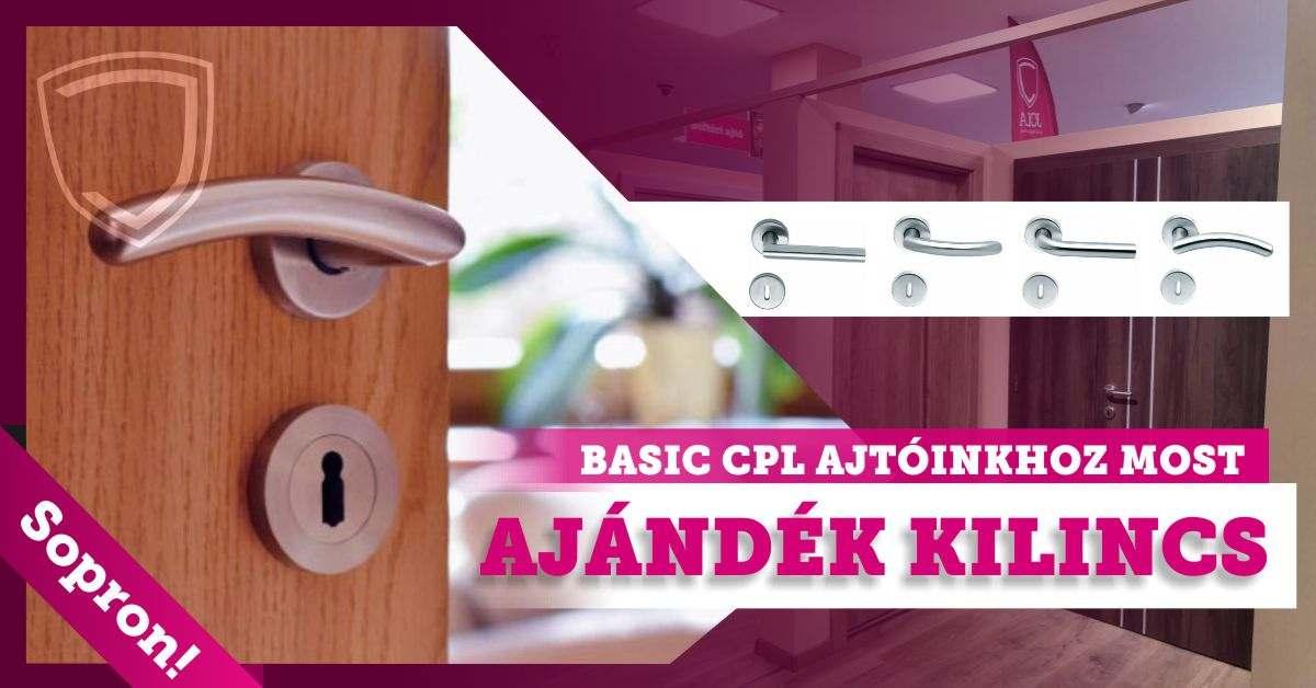 Beltéri Basic CPL ajtó ajándék kilinccsel
