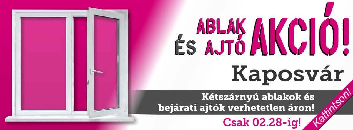 Ablak és ajtó akció Kaposváron!