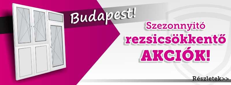 Szezonnyitó rezsicsökkentő ablakakció Budapesten!