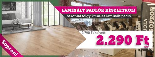 Sopron! Laminált padlók készleten