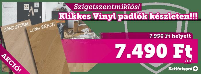 Szigetszentmiklós! Vinyl padlók készletről
