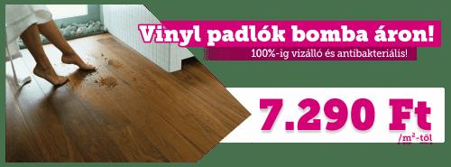 Vízálló Vinyl padlók bomba áron!
