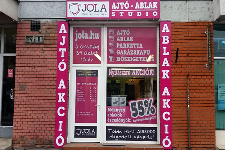 JOLA Angyalföldi üzlet külső