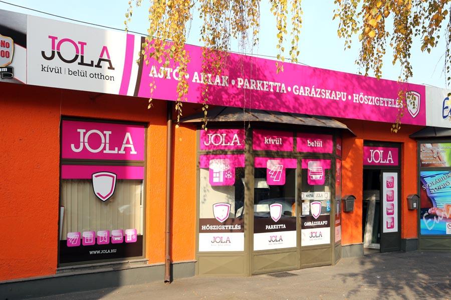 JOLA Győri üzlet külső